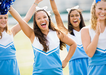 high school cheerleaders